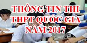Công văn thi THPT Quốc gia 2017 của Bộ GDĐT